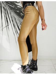 Hnedé voskované nohavice Skinny Fit Marci
