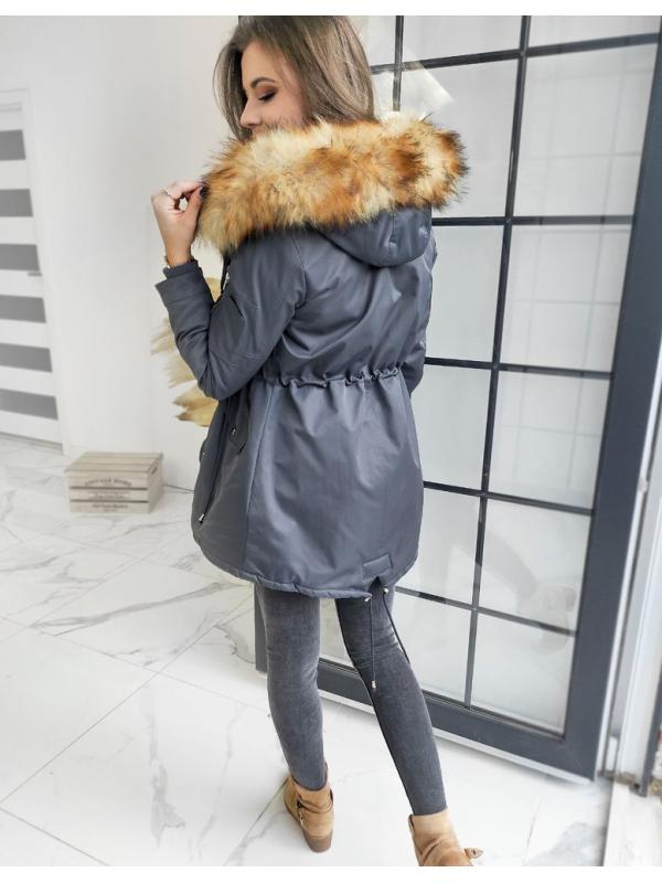 Šedá zimná dámska párka bunda Visteo