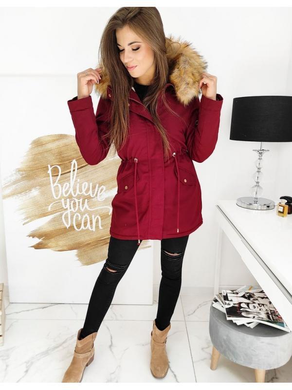 Bordová zimná dámska párka bunda Steeps