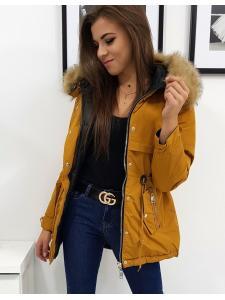 Dámska obojstranná zimná párka bunda Roma hnedá