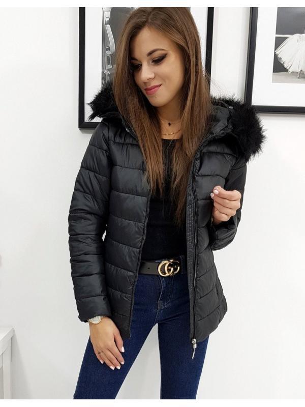 Dámska prešívaná bunda Estella zimná čierna