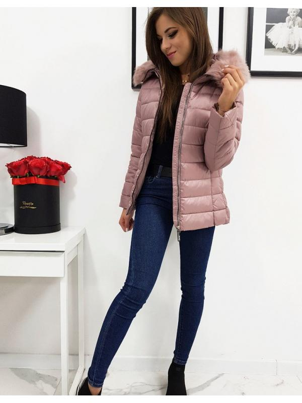 Dámska prešívaná bunda Estella zimná ružová