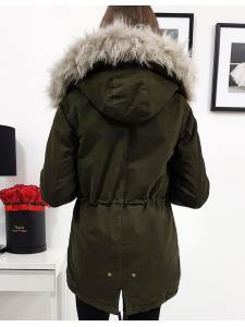 Dámska prešívaná bunda Rubin zimná olivová