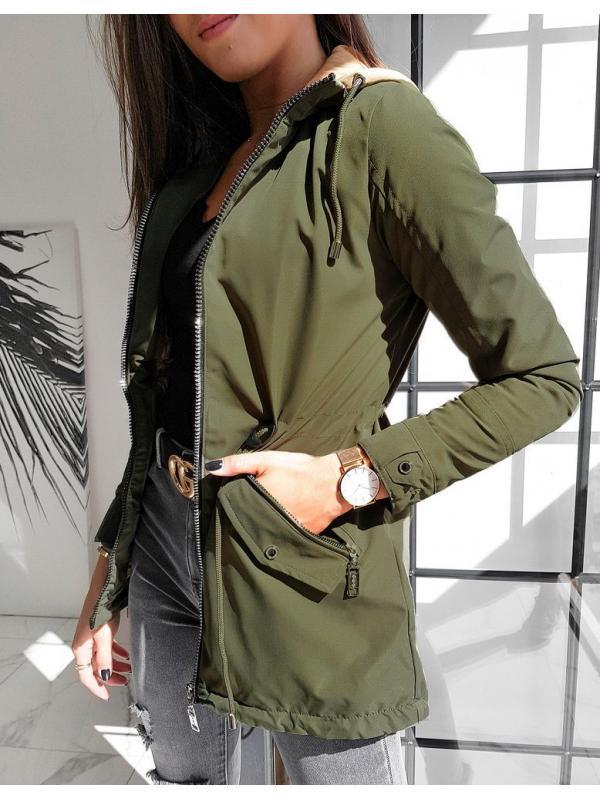 Dámska párka bunda Roko olivová
