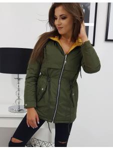 Zelená obojstranná dámska bunda Mayca