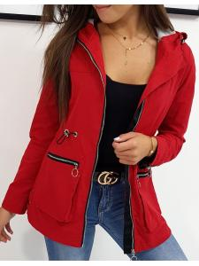 Červená dámska bunda Amelia