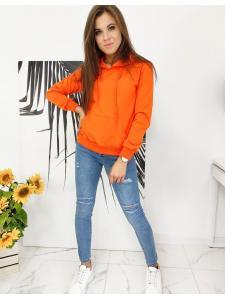 Pomarančová dámska mikina Modivod