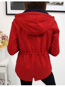 Červená dámska párka bunda Mallorca