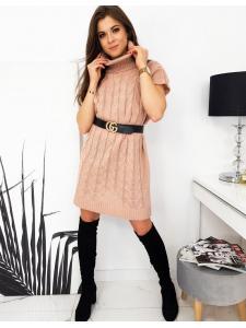 Ružový svetrové šaty Duo