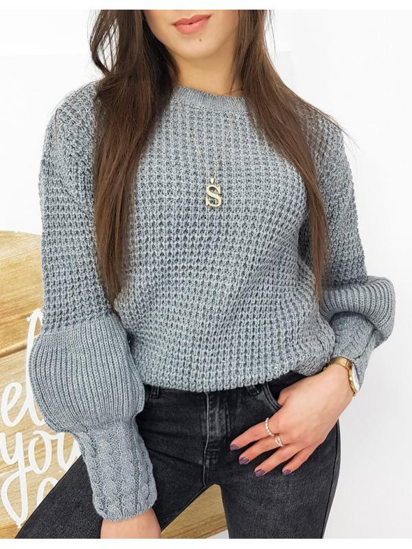 Dámsky šedý sveter Amaya
