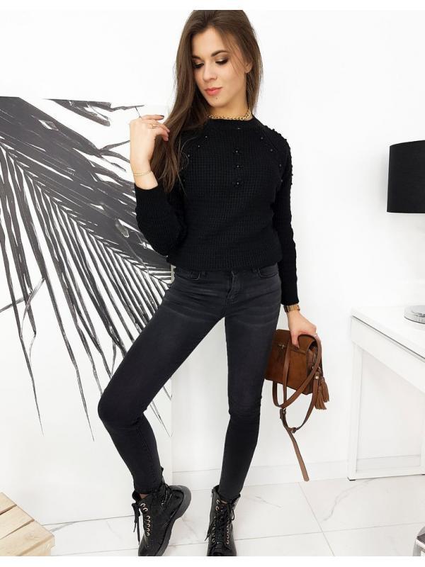 Čierne dámske džínsy Skinny Fit Loren