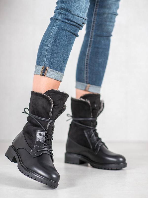 Topánky s odhalenou kožušinkou