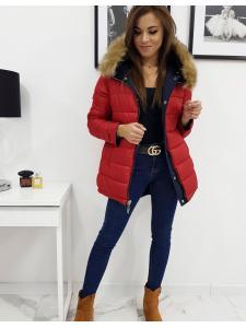 Dámska obojstranná zimná párka bunda Roma tmavomodrá
