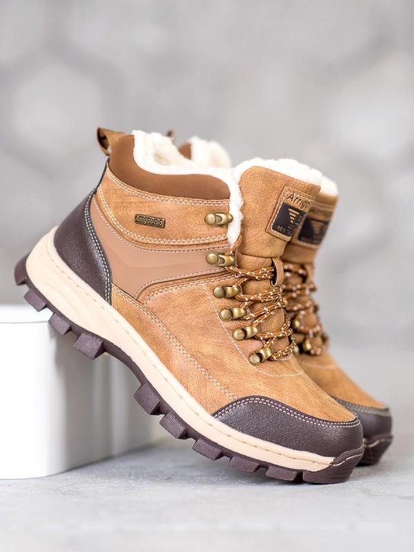 Šnurovacie zimné topánky