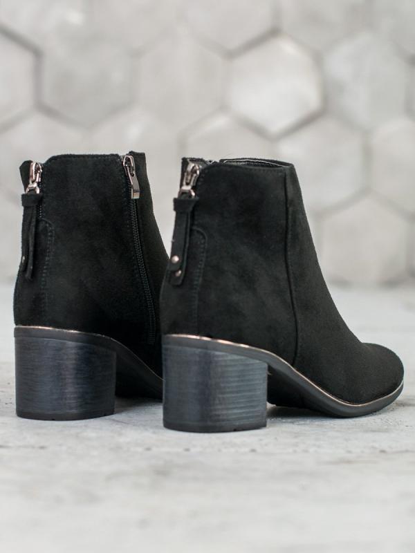 Čierne semišové topánky
