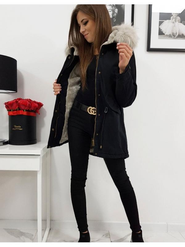 Dámska zimná párka bunda Thomsso čierna