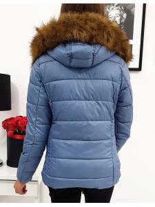 Dámska bunda VIP prešívaná zimna modrá