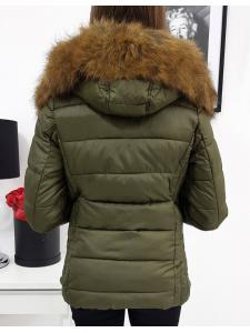 Dámska bunda VIP prešívaná zimna olivová