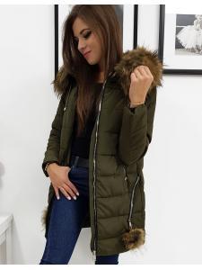 Dámska prešívaná bunda Stella zimná olivová