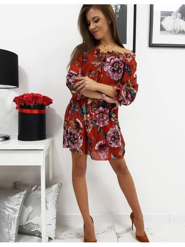 Červené šaty Mariposa