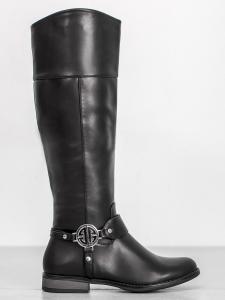 Dámske topánky pod členky v čiernom odtieni