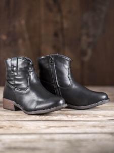 Čierne členkové topánky Kovbojky