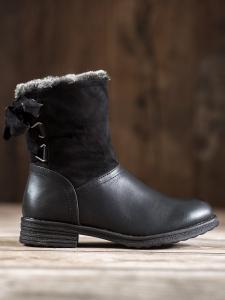 Teplé topánky s kožušinkou