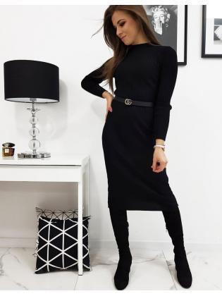 Svetrové šaty Stella čierne