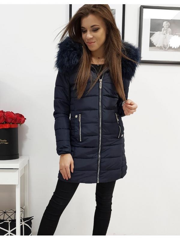 Tmavomodrá prešívaná bunda Amelia
