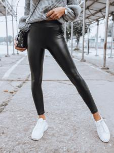 Čierne dámske nohavice Roze