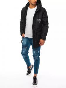 Čierna zimná pánska bunda