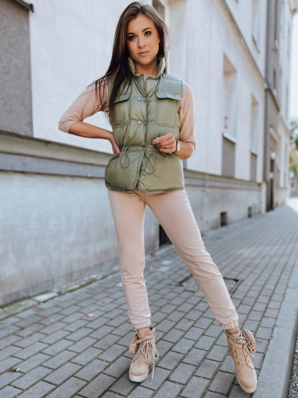 Zelená dámska vesta Lopez