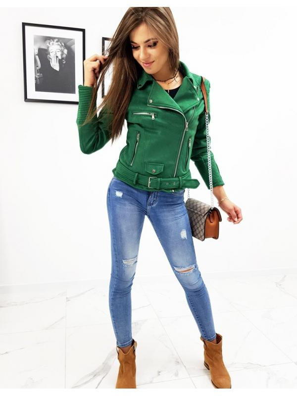 Zelená bunda Louise typu ramoneska