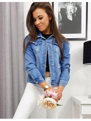 Modrá dámska džínsová bunda Simone