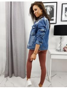 Modrá dámska džínsová bunda Selena