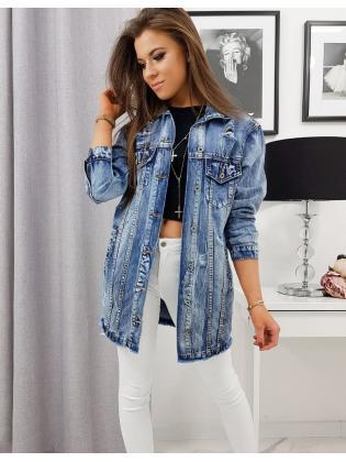 Modrá dámska džínsová bunda Madera