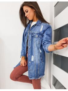 Modrá dámska džínsová bunda Long II