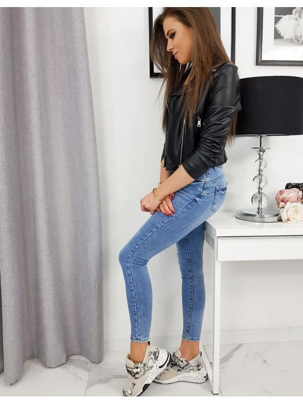 Modré džínsové nohavice Trendy