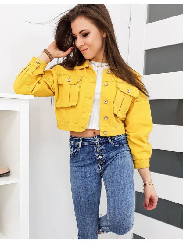 Dámska džínsová bunda Selena žltá