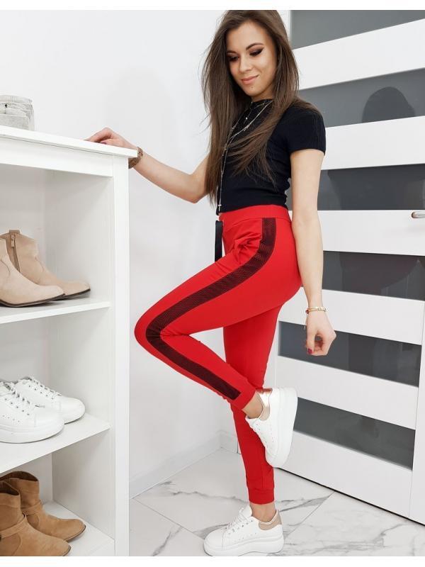 Dámske teplákové nohavice Lorena červené