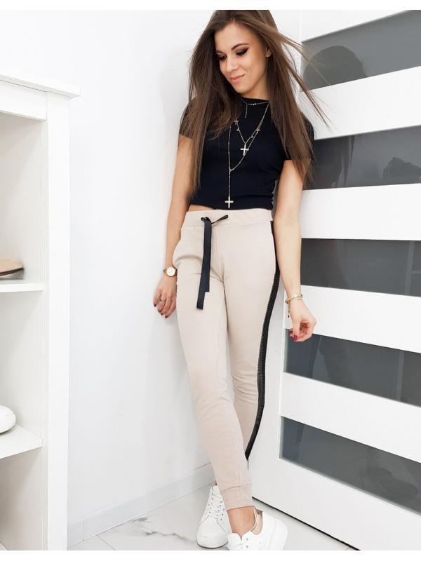 Dámske teplákové nohavice Lorena béžové