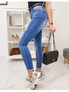 Modré dámske džínsy Fit Euforia