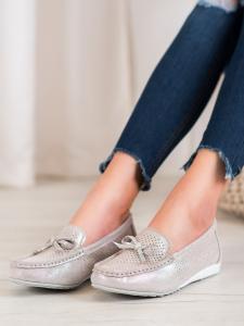 Kožené topánky s mašľou