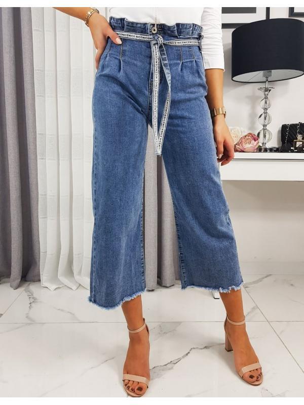 Dámske džínsy Wide High Selena III modré