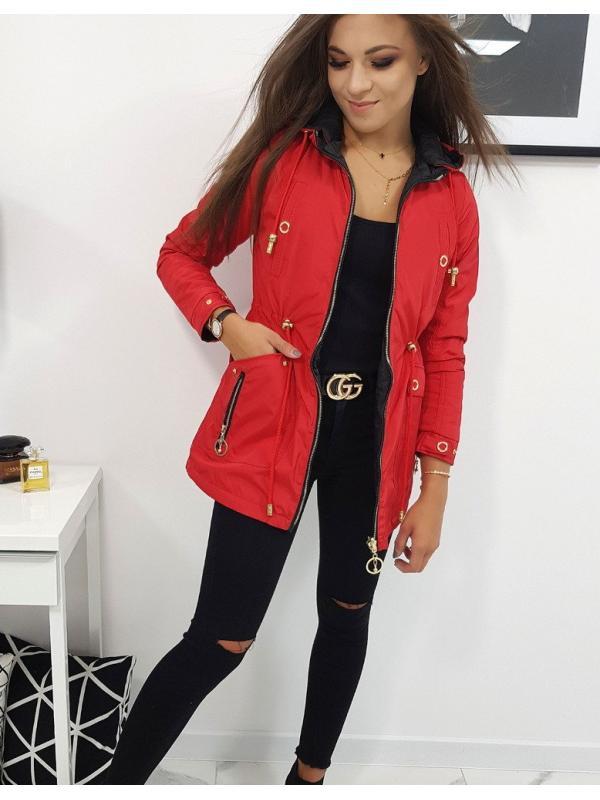 Červená dámska bunda Macao