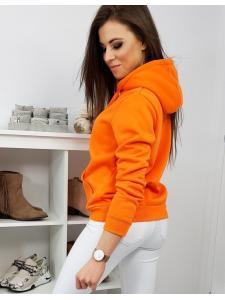Dámska pomarančová mikina Neo s kapucňou
