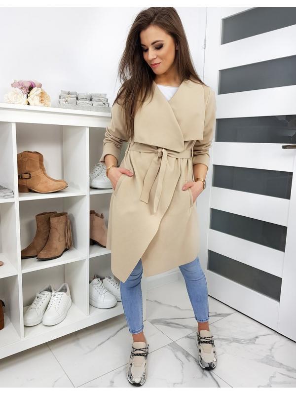 Béžový dámsky kabát
